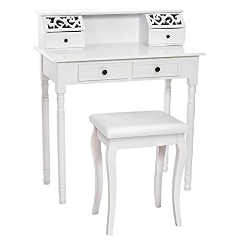 TecTake Make up table dressing vanity room bedroom desk with