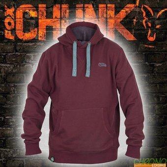 Fox Hoody Chunk Ribbed Kapuzenpullover, Größe:XL, Farbe:Burgundy (rot)
