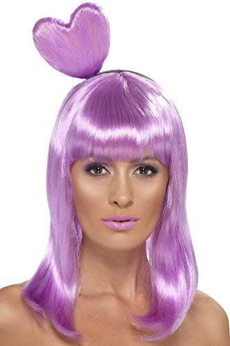 Katy Perry Candy Kleid Halloween Kostüm - Smiffys Damen Candy Queen Perücke mit