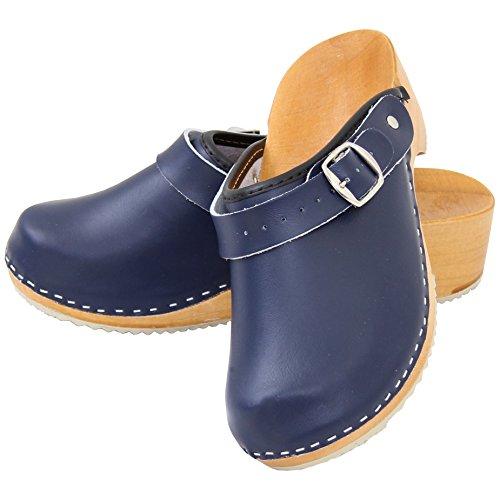 Orthop盲disch Clogs Schuhe 36 Gr NEU 41 blau Holz Holzclogs Pantoletten Leder Marmor Sandalette Holzschuhe 0IzZdwqI