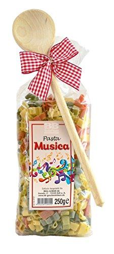 Pasta Präsent Musica mit bunten Notennudeln handgefertigt in deutscher Manufaktur