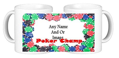 Poker Champion personalizzati sottobicchieri a forma di tazza da caffè