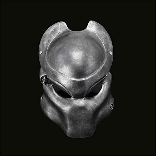 Wsjfc Halloween Maske Harz Masken Alien Jagged Warrior Maske Feldschutzmaske Outdoor Versteckte Lone Wolf Maske Kostüm Kostümfest Prop, Silber,Silber (Wolf Warrior Kostüm)