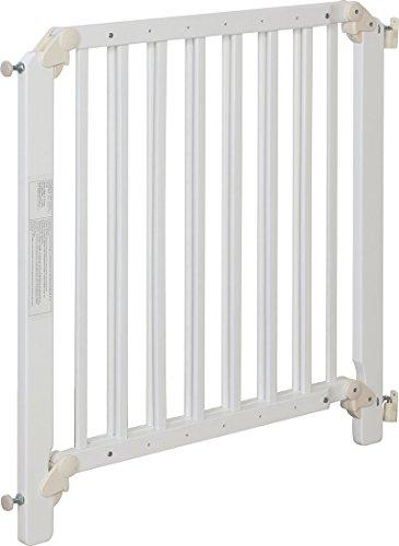 IB-Style – Treppengitter / Türgitter AUDIN weiss   71 – 108 cm & 79 – 126 cm   Klemmgitter Treppengitter Türgitter   2 Varianten wählbar   zum Verschrauben  öffnet wie ein Türchen   Verstellbar 71 – 108 cm - 2