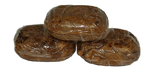 3x100% traditionelle afrikanische schwarze Seife/black soap Alata