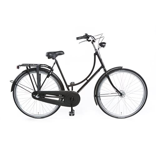 "41%2BA56e8rxL. SS500  - Tulipbikes, classic Dutch bike ""Tulip 2"", matt black, 3 speed Shimano, framesize 50cm"