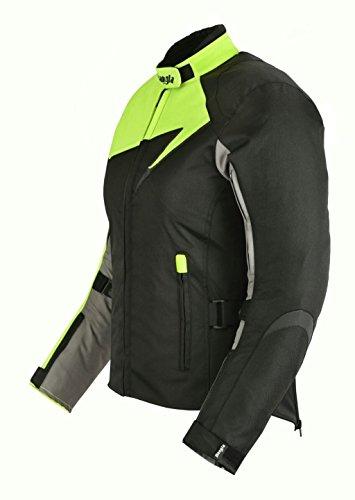 Modische Damen Motorradjacke Touren Jacke Bikerjacke Bangla B-11 Textil neon XXXL - 5