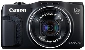 Canon PowerShot SX700 Digitalkamera (16,1 Megapixel, 30-fach opt. Zoom, 7,5 cm (3 Zoll) LCD-Display, NFC, Full HD) schwarz