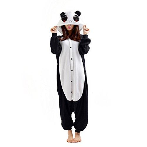 Casa Adult Unisex Cosplay Pyjama Tieroutfit Schlafanzug Tier Onesies Sleepsuit mit Kapuze Erwachsene Overall Halloween Kostüm Kigurumi (Overall Kostüme Mit Halloween)