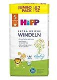 HiPP Babysanft Windeln für Kleinkinder, Geeignet von 11-17 kg, Gr. 5...