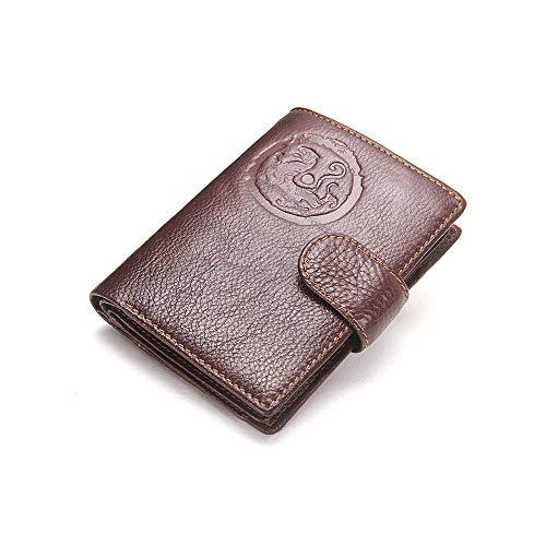 GAOPENG ID-Portemonnaie aus Leder Passport-Portemonnaie Mit Taschen mit hohem Fassungsvermögen können Braun/Schwarz/Italienisches Rot/Kamel wählen, geeignet für Business-Casual-Männer,Brown -