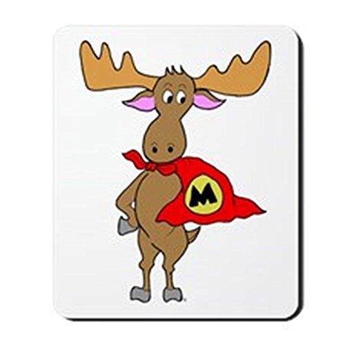 CafePress–Superhero Elch–rutschfeste Gummi Mauspad, Gaming Maus Pad