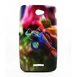 AVC Graphik Frog Fish Soft TPU Back Case Cover for Sony Xperia E4 Mobile Cell Phone (Multicolor)