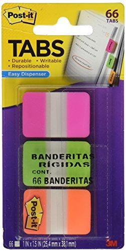 Post-it Index Haftstreifen Strong/686PGO 25,4x38 mm pink/grün/orange Inh.3x 22