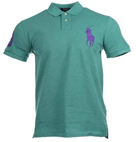 Ralph Lauren Herren Kurzarm Polo Shirt Big Pony (Grün, XL)
