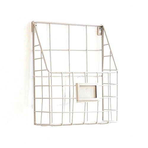 zeitschriftenständer Magazin Regale Einfache Wohnzimmer Wand Hänge Metall Eisen Creative Buchstand Schwarz Und Weiß ( Farbe : Weiß )