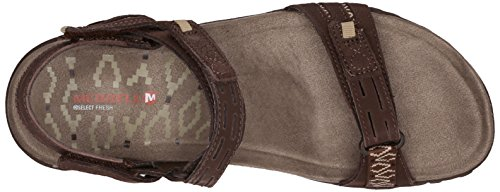 Merrell - Terran Strap Ii, Sandali Donna Marrone (Dark Earth)