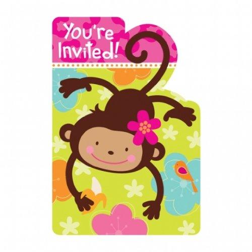 LADUNGSKARTEN (Monkey Einladungen)