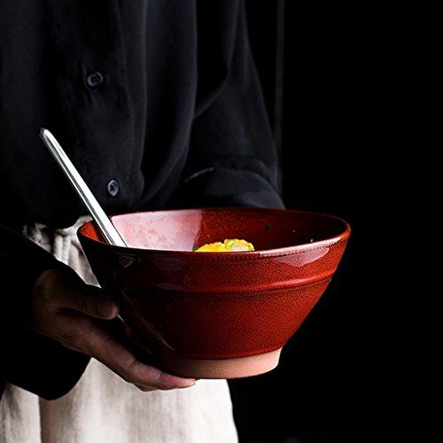 Yxsd Bol en céramique pour la Maison Bol en céramique Bol en céramique pour la Cuisine Rouge