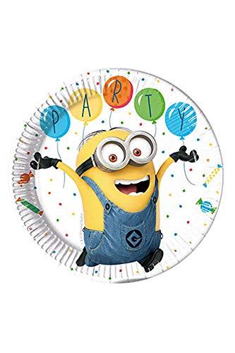 Procos 88173 Partygeschirr Minions Balloon, Teller, One Size (Minion Party-spiele)