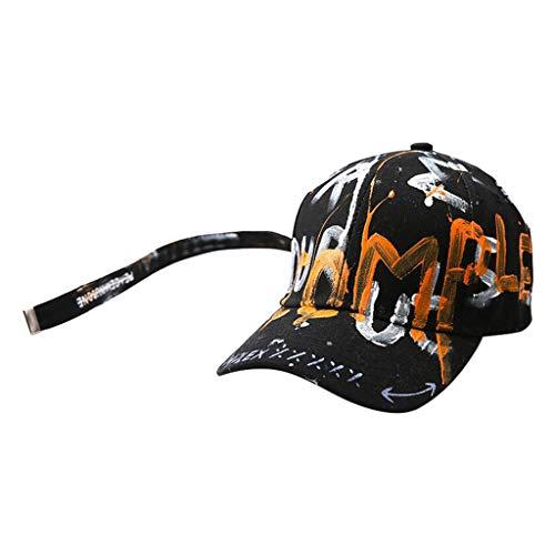 QinMM Unisex Handmalerei Trucker Plain Baseball Schirmmütze Vati Hut im Freien
