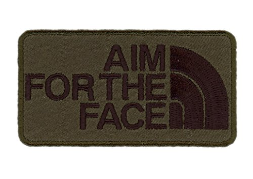 Hook Fastener Camo Green Aim For the Face 2nd Amendment