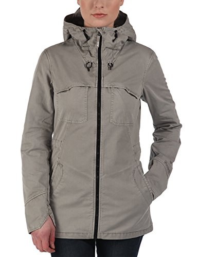 Bench Parka Heighten - Chaqueta Mujer, Gris (Neutral Grey), Large (Talla del fabricante: Large)