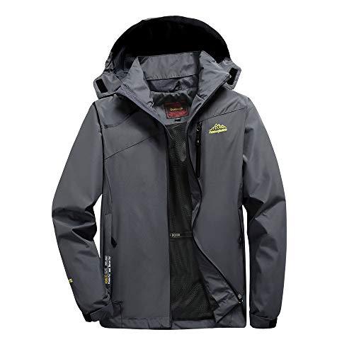 Odjoy-fan-uomo primavera e autunno all'aperto giacche taglia larga cappotto uomo giacca softshell impermeabile tattico vento outdoor trekking cappuccio outwear casual manica lunga jacket