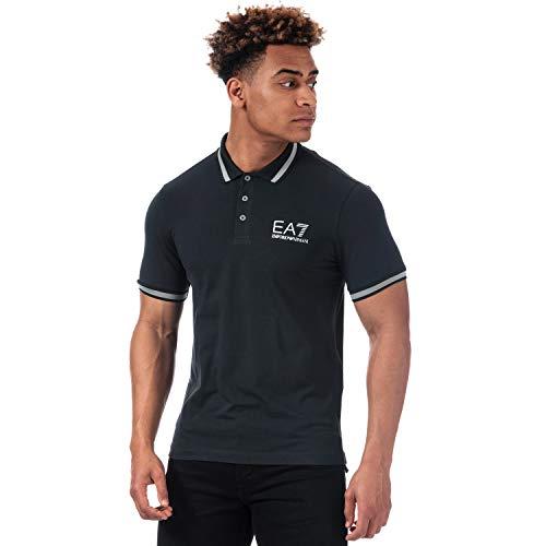 Emporio Armani Herren Poloshirt Gr. S, blau
