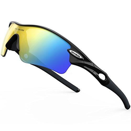 aa8ceecfa4 RIVBOS RBS905 Outdoor Sport Gafas de Sol Deportivas Polarizadas para Hombre  Esquiar Golf Correr Ciclismo Súper