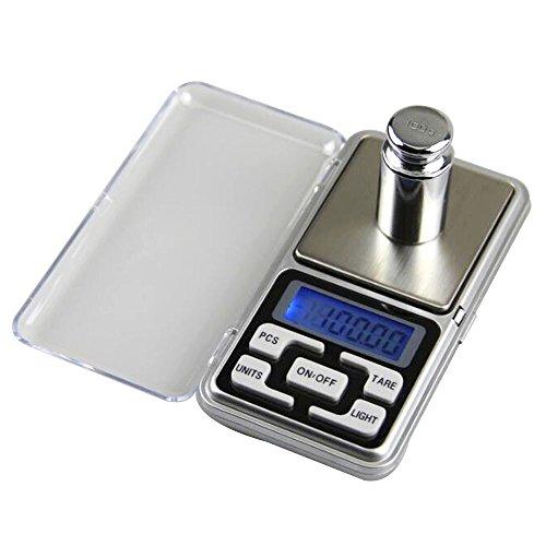 Lezed Präzisions-Mini-Tasche tragbare elektronische Waage Schmuck-Skala elektronische Waage 0.1g Präzision elektronische Waagen Digital Waagen Lcd Display (Silber)