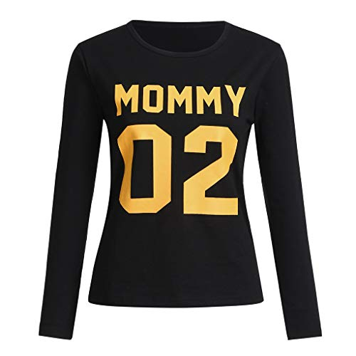 MRULIC Familie Oberteil Baby Mama und Papa Schlafanzug Familien Basic Tops and T-Shirt Brief...