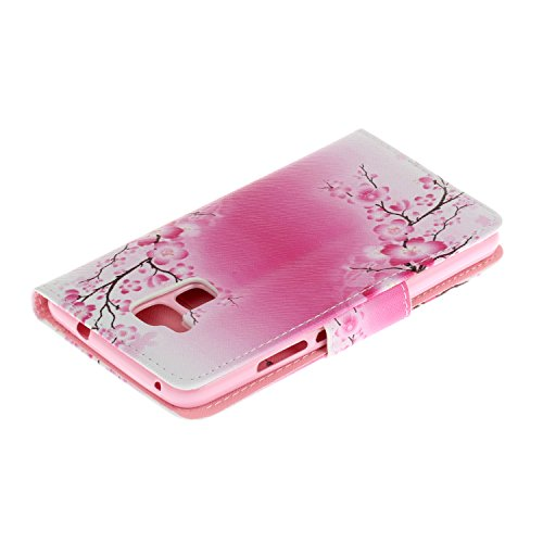 Qiaogle Telefon Case - PU Leder Wallet Schutzhülle Case für Apple iPhone 5 / 5G / 5S / 5SE (4.0 Zoll) - HX04 / London Envelopes HX12 / Pink Wintersweet