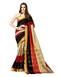 Glory Sarees Women's multi color saree jari101