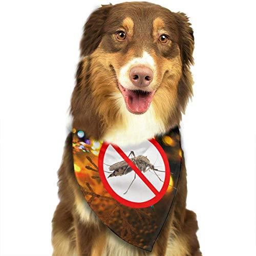 Gxdchfj Mosquitoes Fashion Dog Bandana Pet Accessories Easy Wash Scarf