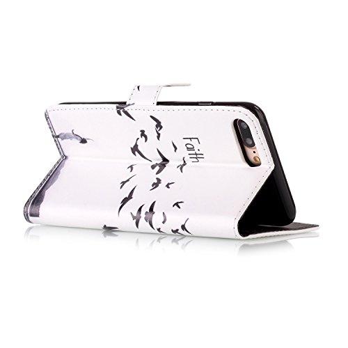 Coque Etui pour iPhone 7 Plus,iPhone 7 Plus PU Leather Case Wallet Cover Flip Coque,iPhone 7 Plus Portefeuille Cuir Coque Housse,EMAXELERS iPhone 7 Plus Coque Cuir,iPhone 7 Plus Coque Flip,iPhone 7 Pl G Butterfly 9