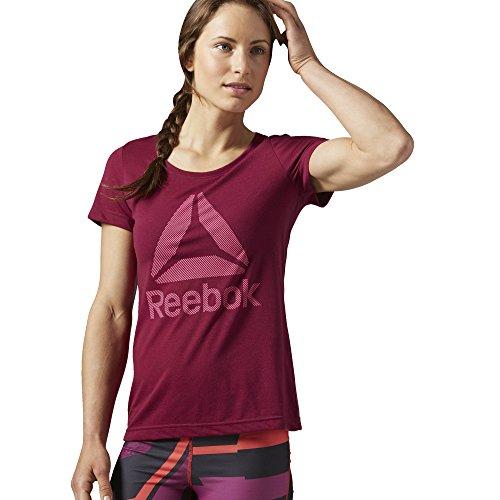 Reebok Wor Bl Supremium Cr T-shirt sportiva Donna - Rosa (Rosa (Rebber)) - M