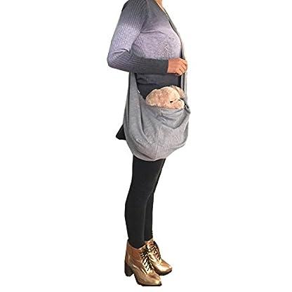 PENIVO Reversible Pet dog Bag Hands Free,Strap Adjustable Sling Carrier Transport bags shoulder bag for small medium… 9