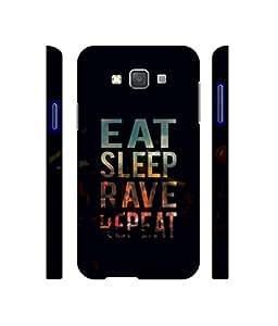 NattyCase Eat Sleep 3D Printed Hard Back Case Cover for Samsung Galaxy A5