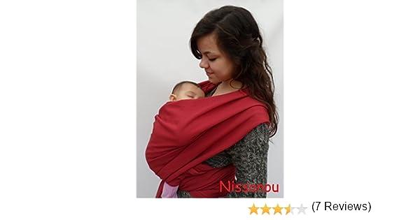 NISSANOU porte bébé ECHARPE DE PORTAGE neuve BORDEAUX idée cadeau naissance   Amazon.fr  Bébés   Puériculture e3a904f1d4e