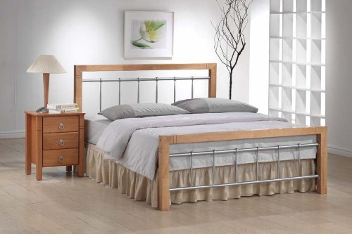 Ideal Furniture Alice King Size Bed, Beech