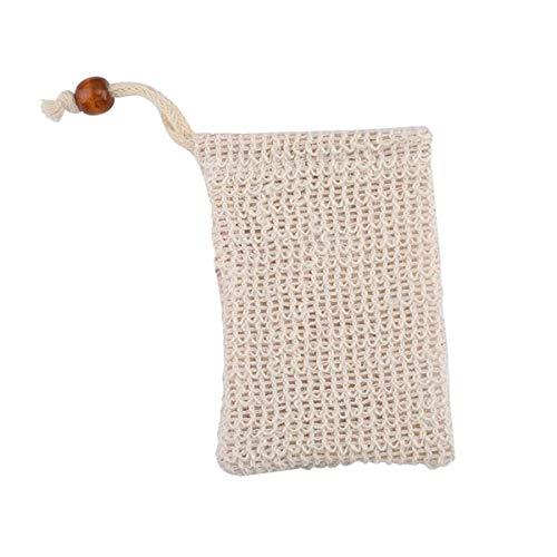 BESTONZON 4 STÜCKE Exfoliating Mesh Soap Saver Pouch Blase Schaum Net Handgemachte Seife Mesh Taschen (Net Soap-tasche)