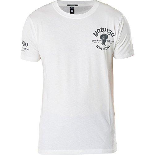 Yakuza Premium T-Shirt YPS-2005 Weiß, XXL (T-shirt Weißes 2005)