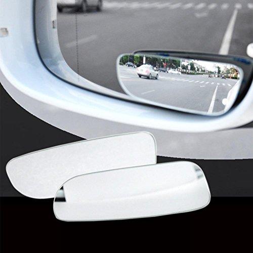 RUNGAO 2 espejos retrovisores ajustables de 360 grados para motocicleta, color plateado