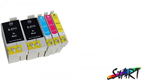 Start - Cartucce d'inchiostro compatibili per Epson 27XL (2 Nero, 1 Ciano, 1 Magenta, 1 Giallo) Alta Capacita Compatibile con Epson Workforce WF 3620 3640 7610 7620 7110