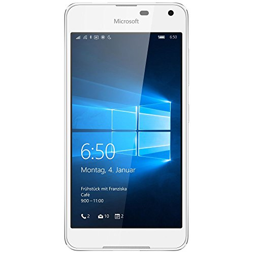 Microsoft Lumia 650 Smartphone (5 Zoll (12,7 cm) Touch-Display, 16 GB Speicher, Windows 10) weiß