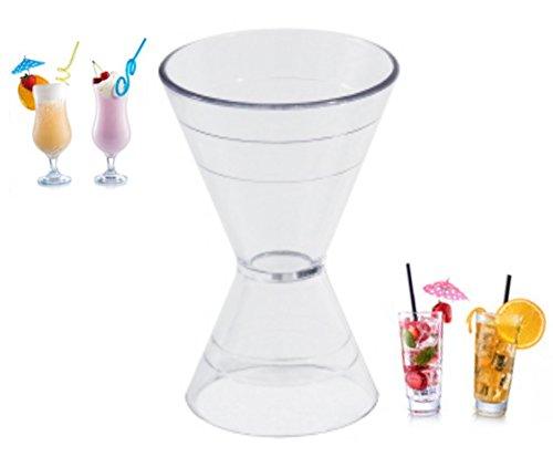 Cocktail-Doppelmaß Polycarbonat Doppelmessbecher Cocktail Maß mit Graduierung