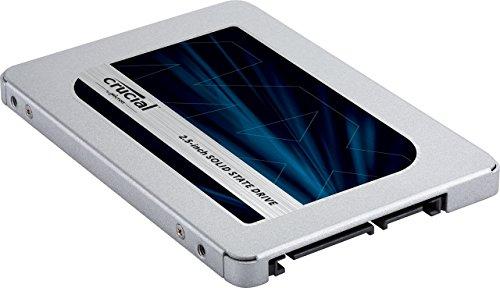 Crucial MX500 CT250MX500SSD1(Z) -  Disco Duro sólido Interno SSD de 250 GB (3D NAND,  SATA,  2.5 Pulgadas)