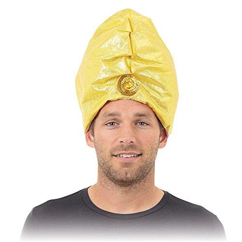 Bristol Novelty bh158Genie Turban Hat, gelb, One Size