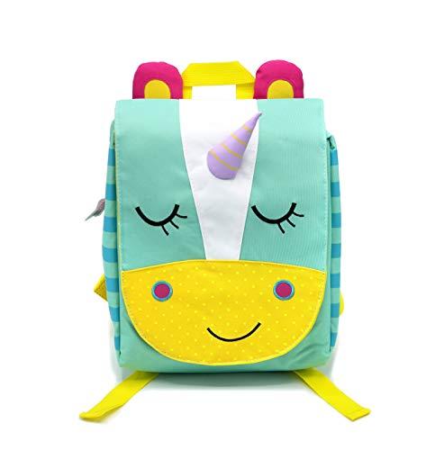 Weshopaholic Preschool Toddler Backpack, 3D Cute Cartoon Animal Schoolbag for Kids, Lunch Box Carry Bag for 1-6 Years Boys Girls, (Unicorn_Blue)